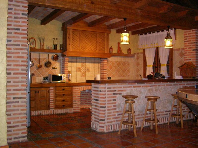 03439124a intercambia casa en navas de oro espa a - Salon cocina rustico ...