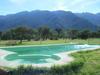 Al Pie De Las Montañas Con Lago Y Arroyo.